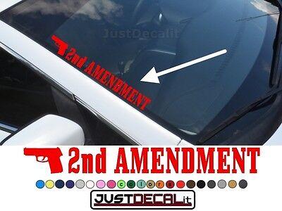 Left Side Banner - Side Windshield 2nd AMENDMENT Decal  banner graphic sticker gun second truck car