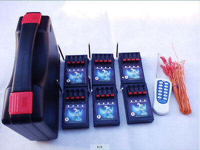 24 Cues fireworks firing system wireless remote AC Smart Switch stage salvo fire
