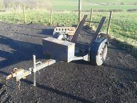 Bomag, Terex single drum roller trailer