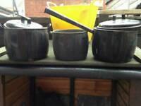 Vintage saucepans