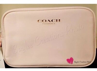 Pink Pouch - Coach Light Pink Fragrance Toiletry Pouch Makeup Bag NWT