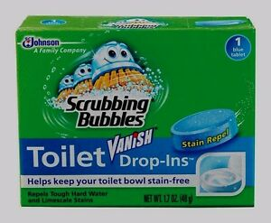 Scrubbing Bubbles VANISH DROP INS Toilet Bowl Cleaner Tablets Repels Lime Scale