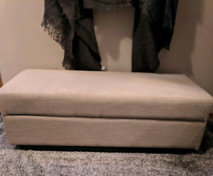 Brand new never used fabric storage ottoman bench price reduced!
