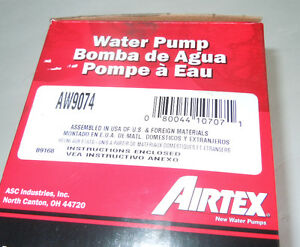 Airtex AW9074 Engine Water Pump - 1985 - 98 Nissan Maxima Quest