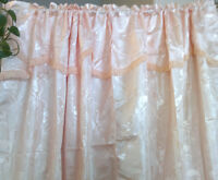 never used curtains with net linning