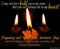 October 15, 2016 National Awareness Pregnancy & Infant Loss Day