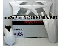 New Plastic Kit All White KTM SX SXF 125/250/350/450 11-12 2011 2012 Plastics