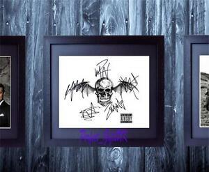 Avenged-Sevenfold-Band-Logo-SIGNED-AUTOGRAPHED-FRAMED-10X8-REPRO-PHOTO-PRINT-Rev