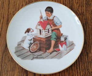 1984 Norman Rockwell A Dollhouse For Sis Collectors Plate