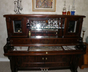 Piano Bar - Re-purposed Antique Piano