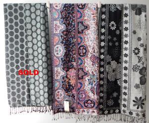 NEW Paisley Bordered Shawls / Scarves + FREE Gift Bag