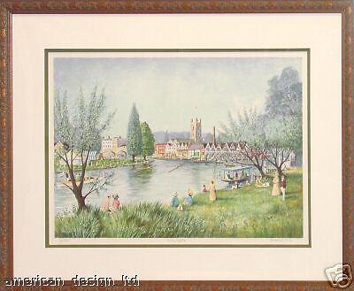 Jeremy King Henley Ragatta  Cityscape Framed Signed Serigraph Art Make Offer