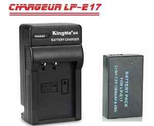 Canon T6i T6s 8000D kiss X8i M3 x1batterie+1chargeur LP-E17 NEUF
