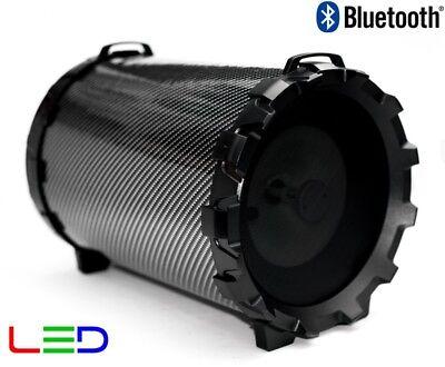 ALTAVOZ PORTATIL CON BLUETOOTH INALAMBRICO USB KARAOKE RADIO 3,5MM ALTAVOCES