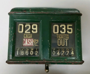 Antique trolley or train fare counter working!!!!