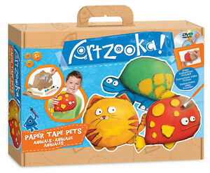 Artzooka Paper Tape Pets. Includes DVD with episode