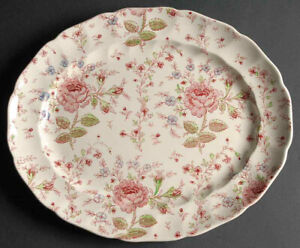 Rose Chintz Johnson Brothers Serving Platter