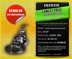 "Just in!  Pioneer Eclipse 24"" Propane Burnisher w/dust control!"