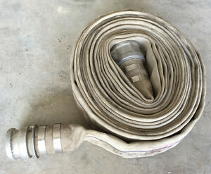"FIRE HOSE 2 1/2"" X 50' SINGLE JACKET 150 PSI used   I have 4"