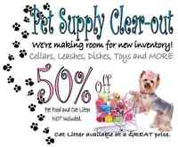 PET SUPPLY CLEAR-OUT!