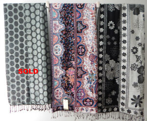 NEW Paisley Bordered Shawls / Scarves + FREE Gift Bag