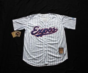 Montreal Expos Chandail Jersey Pinstripe