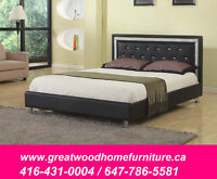 BRAND NEW QUEEN SIZE BED FRAME BLACK OR WHITE...$299