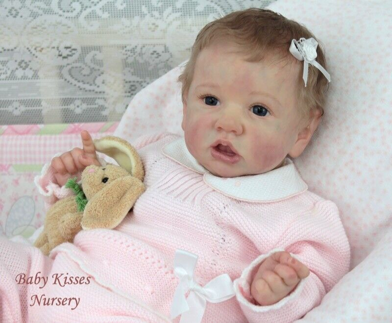 Reborn Baby Doll Saskia Kit by Bonnie Brown Realistic Weighted and Magnetic