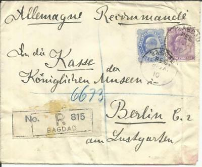 India POST OFFICE IN IRAQ-SG#Z45,#Z44 BAGDAD REG. 31/JA/10 Registered(label) for sale  Shipping to India