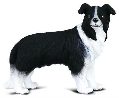 Border Collie Black And White - Breyer Horses Corral Pals Border Collie Dog #88010 Black and White Herding Dog