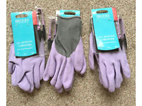 Gardening Gloves - 3x Briers new mauve rubber coated gloves - Rednal, B45 area