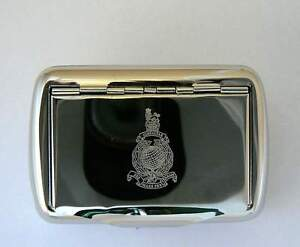Royal-Marines-British-military-forces-navy-high-chrome-finish-metal-tobacco-Tin