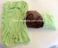 3 plush changing pad covers