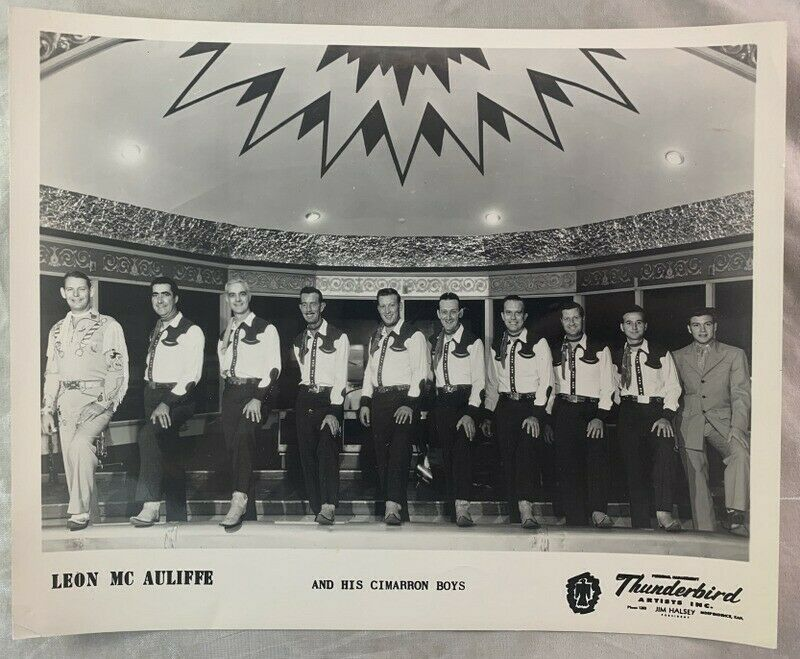 Vintage Photograph Leon McAuliffe (HOF) and His Cimarron Boys Western Swing