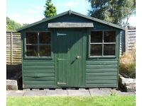 9ft x 6ft GARDEN SHED WITH 2 OPENING WINDOWS. IDEAL AS WORKSHOP, POTTING SHED or CHILD'S PLAYHOUSE