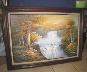 Nice Large Oil Picture in wood frame