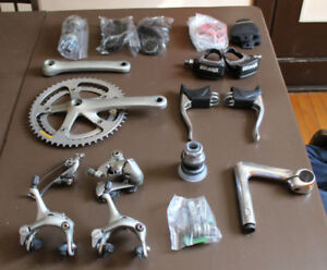 Vintage 7-speed SHIMANO 105 Groupset shifters derailleurs stem