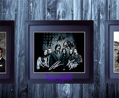 Motionless In White Band SIGNED AUTOGRAPHED FRAMED 10x8 REPRO PHOTO PRINT chris