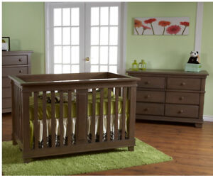 Convertible Crib  Lucca ,Double Dresser,Mirror $1.099