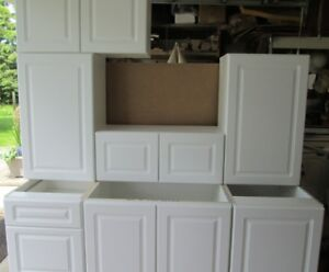 NEW Raised Panel White Kitchen Cabinets