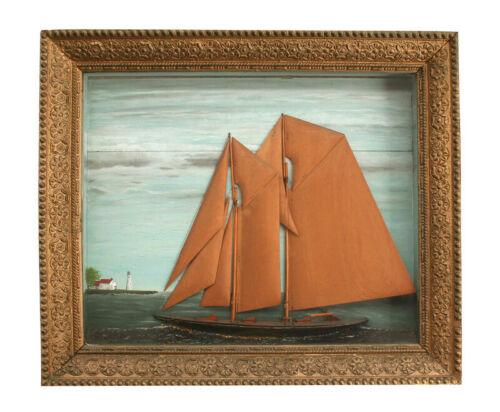 Antique Ship Model Diorama