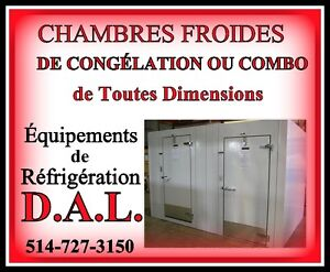 ***IMPORTANT***CHAMBRES FROIDES***CONGÉLATION OU COMBO***
