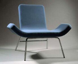 BJORN DAHLSTROM Designer ''Gondola'' Chair by Björn Dahlström, Dark Grey. 1990's