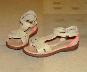 GEOX 100 % leather girl sandals (skin colour), size 10.5.