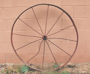 "Large Vintage Antique Wagon Wheel 42""d  Other Sizes  3 x 24""d"