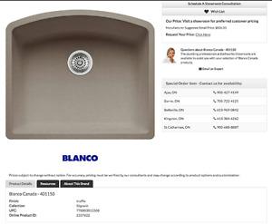 Brand new Blanco 401150 Silgranit Sink
