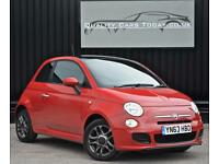 2013 '63' Fiat 500 S 1.2 Sport * Pasodoble Red + Warranty + Finance