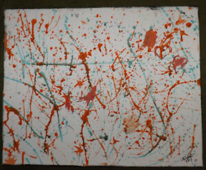 Abstract Splatter paintings For Sale