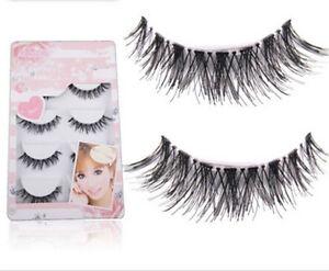 5 Pairs Pop Handmade Natural Thick Long False Fake Eyelashes Eye Lashes Makeup