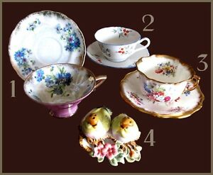 COLLECTIBLE CHINA TEACUPS … SALT & PEPPER SHAKER